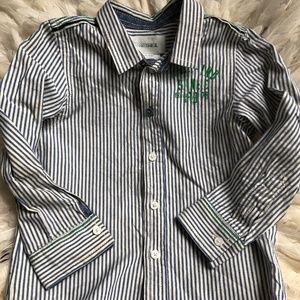 DIESEL Boys Dress Shirt Blue/White stripe 24 M